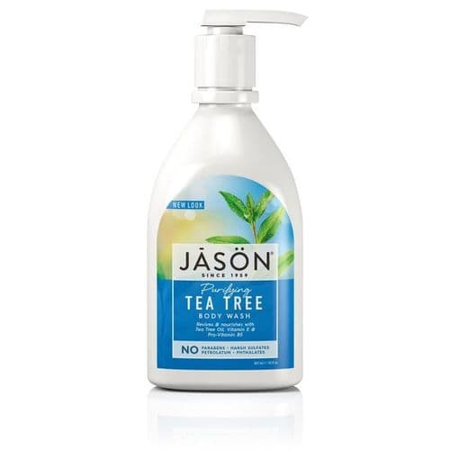 Jasons Natural Organic Tea Tree Body Wash With Pump